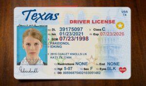 Texas fake driver license